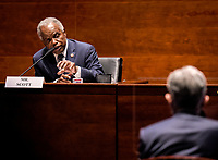United States Representative David Scott (Democrat of Georgia) questions Jerome H. Powell, Chair of the Board of Governors of the Federal Reserve System, during the US House Committee on Financial Services hearing on Oversight of the Treasury Department and Fed Reserve Pandemic response in Washington, DC on June 30, 2020.<br /> Credit: Bill O'Leary / Pool via CNP /MediaPunch