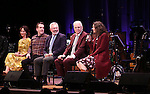 Carmen Cuscak and Rob Berman, Walter Bobbie, Steve Martin, and Edie Brickell   on stage during 'Bright Star' In Concert at Town Hall on December 12, 2016 in New York City.