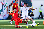Mirlan Murzaev of Kyrgyz Republic (R) battles for the ball with Wu Xi of China (L) during the AFC Asian Cup UAE 2019 Group C match between China (CHN) and Kyrgyz Republic (KGZ) at Khalifa Bin Zayed Stadium on 07 January 2019 in Al Ain, United Arab Emirates. Photo by Marcio Rodrigo Machado / Power Sport Images