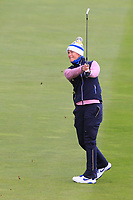 Suzann Pettersen of Team Europe on the 16th during Day 2 Fourball at the Solheim Cup 2019, Gleneagles Golf CLub, Auchterarder, Perthshire, Scotland. 14/09/2019.<br /> Picture Thos Caffrey / Golffile.ie<br /> <br /> All photo usage must carry mandatory copyright credit (© Golffile | Thos Caffrey)