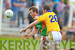 Donal Leahy Feale Rangers in action against Donnacha Walsh Mid Kerry in the First Round of the Kerry Senior Football Championship at O'Rahilly Park Ballylongford on Sunday.