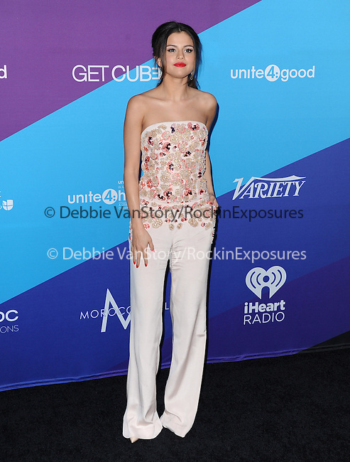 "Selena Gomez attends unite4:good and Variety presentation ""unite4:humanity"" Celebrating Good, Giving and Greatness Around the Globe held at Sony Picture Studios in Culver City, California on February 27,2014                                                                               © 2014 Hollywood Press Agency"