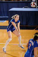 20 November 2008:  South Alabama outside hitter Tereza Bendlova (15) prepares to return the ball during the FIU 3-1 victory over South Alabama in the first round of the Sun Belt Conference Championship tournament at FIU Stadium in Miami, Florida.