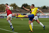 Kerys Harropc of Birmingham City Women and Lisa Evans of Arsenal Women during Arsenal Women vs Birmingham City Ladies, FA Women's Super League Football at Meadow Park on 4th November 2018