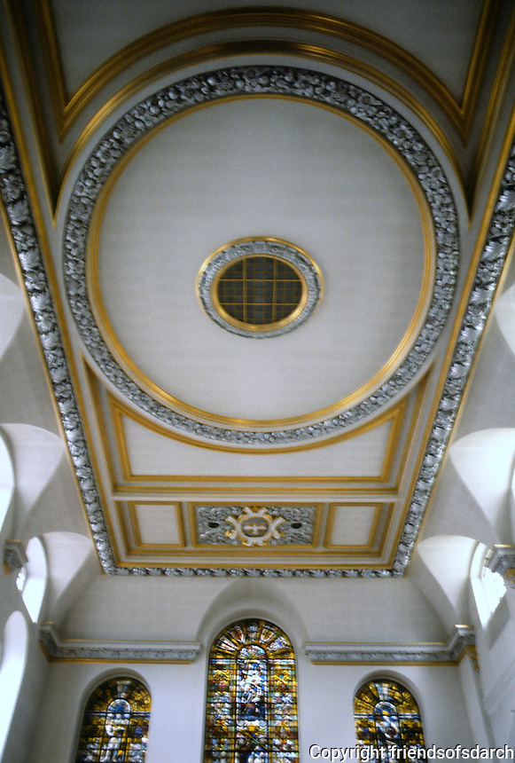 Sir Christopher Wren: St. Vedast, London. Ceiling detail.