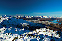 Ben Lomond and the Arrochar Alps from Ben Venue, Southern Highlands, Loch Lomond and the Trossachs National Park, Stirlingshire