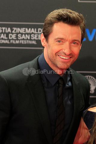 Hugh Jackman attends the photocall for the Donostia award Gala at el Kursaal in San Sebastian, Spain. 27.09.2013<br /> C. Kasady/insight media /MediaPunch Inc. **FOR USA ONLY***
