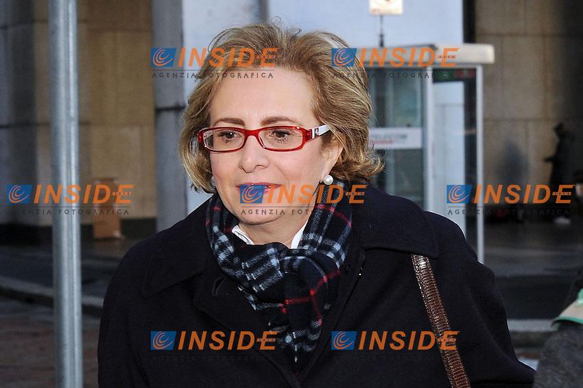 Lucia Calvosa <br /> Milano 06/02/2014 Sede Telecom Piazza Affari <br /> Consiglio d'amministrazione da Telecom <br /> foto Andrea Ninni/Image/Insidefoto