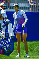 Michelle Wie (USA) looks over her tee shot on 1 during Sunday's final round of the 2017 KPMG Women's PGA Championship, at Olympia Fields Country Club, Olympia Fields, Illinois. 7/2/2017.<br /> Picture: Golffile   Ken Murray<br /> <br /> <br /> All photo usage must carry mandatory copyright credit (&copy; Golffile   Ken Murray)