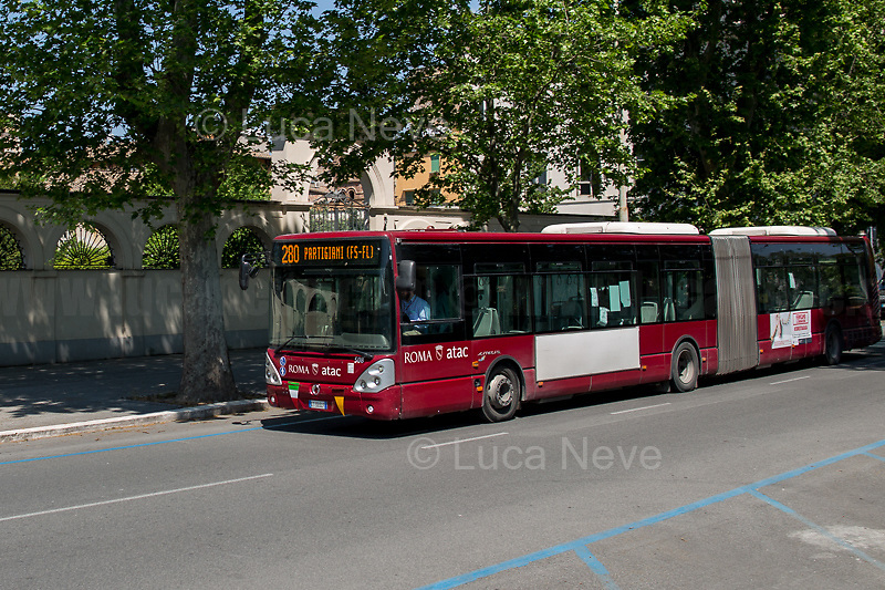 """Bus 280: Partigiani.<br /> <br /> Rome, 25/04/2020. Today, to mark the 75th Anniversary of the Italian Liberation from nazi-fascism (Liberazione) in Rome, I documented backwards the route of the annual march (Corteo) from Garbatella (South Rome's District in the VIII Municipio / Municipality which in 2020 celebrates 100 years from its foundation) to Piazzale Ostiense (1.) where usually a rally took place attended by Partizans / Partigiani (2.), Veterans and politicians. This year people were not allowed to attend the Commemoration (held with just a delegation of WWII Italian Partizans / Partigiani - including ANPI (3.) - along with the Mayor of Rome and few other Institutional Representatives) due to the spread of the 2019-20 Coronavirus pandemic (SARS-CoV-2 – infection: COVID-19, 5.) which already killed more than 200,000 people in the world (Data by WHO / OMS). The day ended with a flashmob held from the windows of Garbatella's Palladium (6.), where people sang two of the most famous Partizans / Partigiani's Anthems: Bella Ciao and Fischia Il Vento, the Italian Anthem """"Il Canto Degli Italiani / Inno d'Italia / Inno di Mameli"""", and few other songs (4.) which celebrate and remember the Partisans / Partigiani, their Sacrifice for the Freedom, the Italian Constitution, and the Future of Italy and Europe without fascisms and dictatorships.<br /> <br /> Footnotes & Links:<br /> 1. (25 Aprile 2018) http://tiny.cc/dsi3nz<br /> 2. (I Partigiani) http://tiny.cc/cwi3nz<br /> 3. http://www.anpi.it<br /> 4. Video (Source, Repubblica.it) : http://tiny.cc/3yi3nz<br /> 5. Rome's Lockdown: http://tiny.cc/d3i3nz & http://tiny.cc/w5i3nz <br /> 6. (Source, Wikipedia.org ENG) http://tiny.cc/6fm3nz <br /> (Liberazione: Source, Wikipedia.org ENG) http://tiny.cc/l9i3nz"""