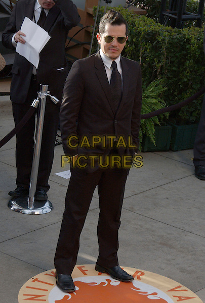 JOHN LEGUIZMO.The 2007 Vanity Fair Oscar Party Hosted by Graydon Carter held at Morton's, West Hollywood, California, USA,.25 February 2007..full length sunglasses black suit.CAP/ADM/GB.©Gary Boas/AdMedia/Capital Pictures.