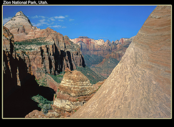 Zion Canyon from Tunnel Overlook, Zion National Park, Utah.<br /> Outside Imagery offers Zion National Park photo tours. Year-round Utah photo tours.