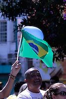 FRANCA, 12,04.2015 - PROTETO FORA DILMA / FRANCA/SP -  Manifestantes durante ato de protesto contra o governo da presidente Dilma Rousseff na cidade de Franca interior do Estado de São Paulo na manhã deste domingo (12). Segundo Datafolha, 75% da população é favorável aos protestos contra o governo. (Foto: Renato Cunha / Brazil Photo Press).