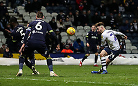 Preston North End's Sean Maguire shoots at goal  <br /> <br /> Photographer Andrew Kearns/CameraSport<br /> <br /> The EFL Sky Bet Championship - Preston North End v Derby County - Friday 1st February 2019 - Deepdale Stadium - Preston<br /> <br /> World Copyright © 2019 CameraSport. All rights reserved. 43 Linden Ave. Countesthorpe. Leicester. England. LE8 5PG - Tel: +44 (0) 116 277 4147 - admin@camerasport.com - www.camerasport.com