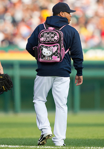 July 02, 2012:  Detroit Tigers pitcher Luis Marte (49) walks to the bullpen during MLB game action between the Minnesota Twins and the Detroit Tigers at Comerica Park in Detroit, Michigan.  The Twins defeated the Tigers 6-4.
