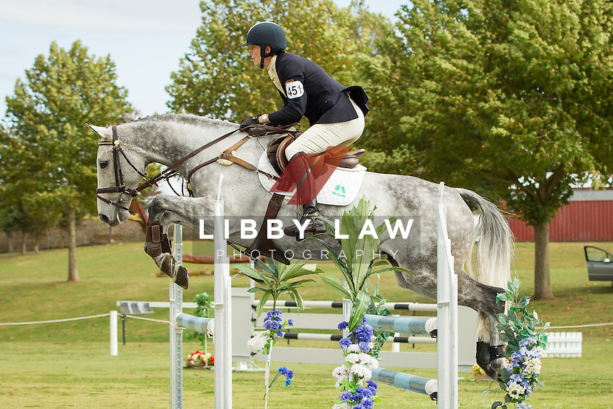 NZL-Kate Lambie (LT ELOQUENCE) FINAL-5TH: CIC1* SHOWJUMPING: 2014 NZL-BNZ Kihikihi International Horse Trial (Sunday 13 April) CREDIT: Libby Law COPYRIGHT: LIBBY LAW PHOTOGRAPHY - NZL