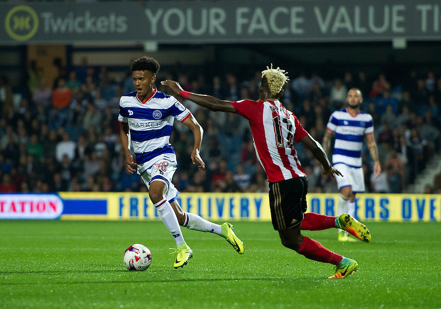 Queens Park Rangers' Darnell Furlong in action during todays match  <br /> <br /> Photographer Ashley Western/CameraSport<br /> <br /> The EFL Cup Third Round - Queens Park Rangers v Sunderland - Wednesday 21st September 2016 - Loftus Road - London<br />  <br /> World Copyright &copy; 2016 CameraSport. All rights reserved. 43 Linden Ave. Countesthorpe. Leicester. England. LE8 5PG - Tel: +44 (0) 116 277 4147 - admin@camerasport.com - www.camerasport.com