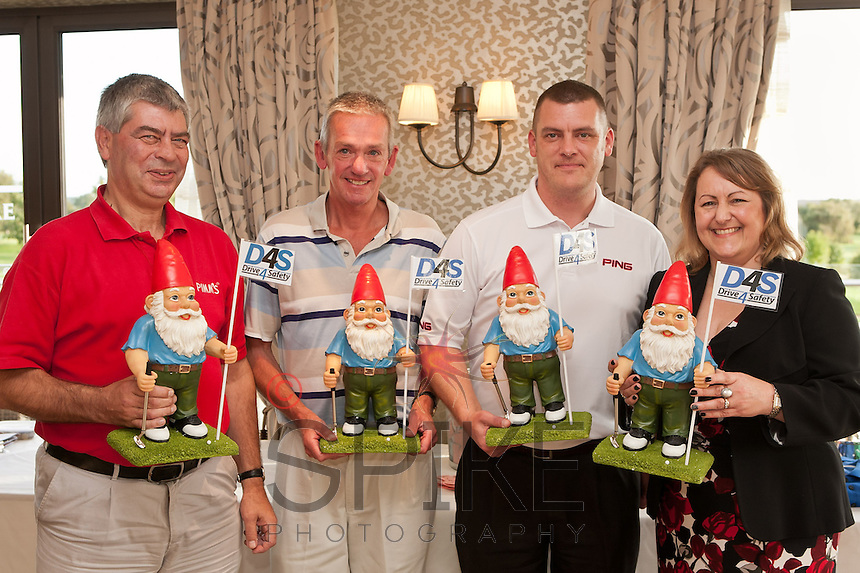 Best team on the par 3s- Pedigree Automotive: Trevor Harris, Paul Gwatkin and Paul Taylor with Deborah Labbate