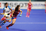 Aki Yamada (JPN), <br /> AUGUST 31, 2018 - Hockey : <br /> Women's Final match <br /> between Japan 2-1 India  <br /> at Gelora Bung Karno Hockey Field <br /> during the 2018 Jakarta Palembang Asian Games <br /> in Jakarta, Indonesia. <br /> (Photo by Naoki Morita/AFLO SPORT)