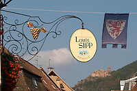 wrought iron sign dom. louis sipp ribeauville alsace france