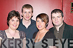 CONCERT: Ringing in the New Year at the Paddy Casey/Jack L concert in the INEC, Killarney were Sinead Moriarty (Wicklow), Charles Moriarty (Currow), Joanne Gallagher and Eamon Moriarty (Castleisland).   Copyright Kerry's Eye 2008
