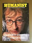 Youp van 't Hek, foto uit 1989 op de omslag van de Humanist in 1994