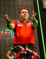 12th March 2020; M and S Bank Arena, Liverpool, Merseyside, England; Professional Darts Corporation, Unibet Premier League Liverpool; Peter Wright during his walk on for night six