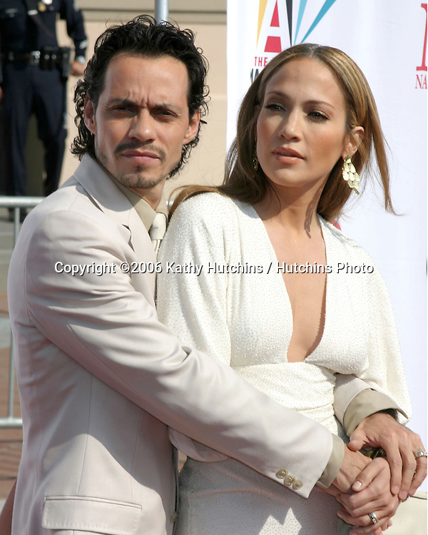 Marc Anthony & Jennifer Lopez.ALMA Awards 2006.Shrine Auditorium.Los Angeles, CA.May 7, 2006.©2006 Kathy Hutchins / Hutchins Photo....
