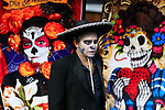 Revellers celebrate the Day of the Dead in New York