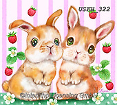 Kayomi, EASTER, OSTERN, PASCUA, paintings+++++,USKH322,#e#, EVERYDAY ,rabbits