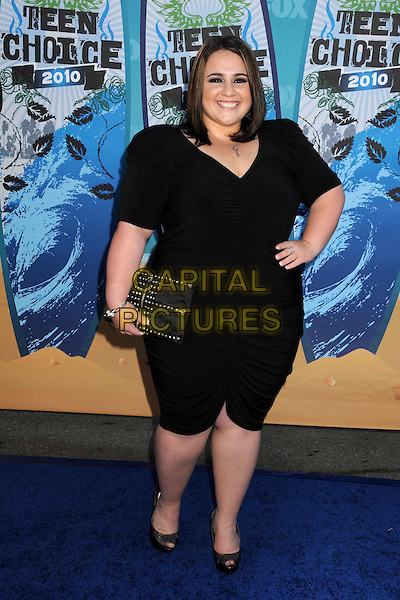 NIKKI BLONSKY.Teen Choice Awards 2010 - Arrivals held at Universal Studios Gibson Amphitheatre, Universal City, California, USA.August 8th, 2010.full length black top cropped trousers clutch bag hand on hip .CAP/ADM/BP.©Byron Purvis/AdMedia/Capital Pictures.