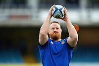 Ross Batty of Bath Rugby practises his throwing prior to the match. Gallagher Premiership match, between Bath Rugby and Harlequins on March 2, 2019 at the Recreation Ground in Bath, England. Photo by: Patrick Khachfe / Onside Images