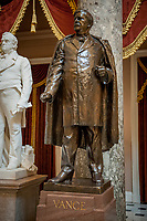 This statue of United States Senator Zebulon Baird Vance (Democrat of North Carolina),was given to the National Statuary Hall Collection by North Carolina in 1916 and stands in Statuary Hall at the US Capitol in Washington, DC., as of Friday, July 31, 2020.. Vance lived from May 13, 1830 to April 14, 1894, and served as a Confederate military officer, 43rd Governor of North Carolina, and US Senator. <br /> Credit: Rod Lamkey / CNP /MediaPunch