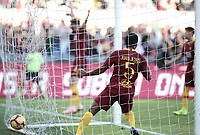 Football, Serie A: AS Roma - Sampdoria, Olympic stadium, Rome, November 11, 2018. <br /> Roma's Juan Jesus celebrates after scoring during the Italian Serie A football match between Roma and Sampdoria at Rome's Olympic stadium, on November 11, 2018.<br /> UPDATE IMAGES PRESS/Isabella Bonotto