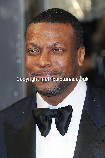 NON EXCLUSIVE PICTURE: PAUL TREADWAY / MATRIXPICTURES.CO.UK.PLEASE CREDIT ALL USES..WORLD RIGHTS..American actor Chris Tucker attending the 2013 EE British Academy Film Awards, at London's Royal Opera House...FEBRUARY 10th 2013..REF: PTY 13945