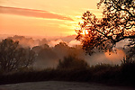 WEATHER INPUT - SATURDAY 9th Novemeber 2019<br /> <br /> Pictured: Sunrise this morning.  A frosty and misty start to the day in Romsey, Hampshire.  <br /> <br /> Please byline: Natasha Weyers/Solent News<br /> <br /> © Natasha Weyers/Solent News & Photo Agency<br /> UK +44 (0) 2380 458800