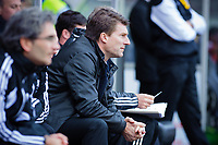 Sunday, 23 November 2012<br /> <br /> Pictured: Michael Laudrup Manager of Swansea City<br /> <br /> Re: Barclays Premier League, Swansea City FC v Manchester United at the Liberty Stadium, south Wales.