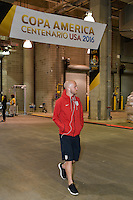 Houston, TX - Tuesday June 21, 2016: Michael Bradley, United States arriving prior to a Copa America Centenario semifinal match between United States (USA) and Argentina (ARG) at NRG Stadium.
