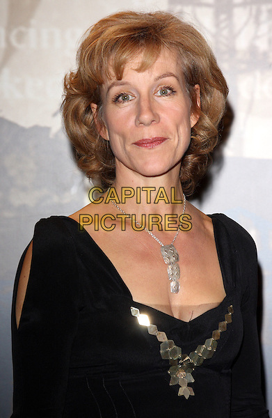 JULIET STEVENSON.Specsavers Crime Thriller Awards at the Grosvenor House Hotel, Park Lane, London, England..October 21st, 2009.headshot portrait black gold silver necklace .CAP/ROS.©Steve Ross/Capital Pictures.