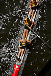 A four man crew from Wentworth rows down the river as they compete during the 68th Dad Vail Regatta on the Schuylkill River in Philadelphia, Pennsylvania on May 12, 2006........