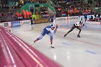 SPEEDSKATING: HAMAR: Vikingskipet, 28-02-2020, ISU World Speed Skating Championships, Sprint, 500m Men, Ruslan Murashov (RUS), Daichi Yamanaka (JPN), ©photo Martin de Jong
