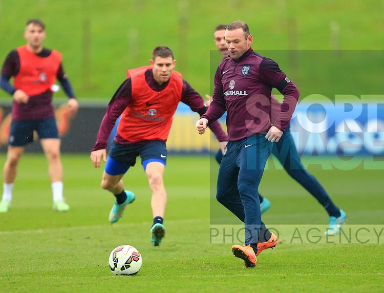 Wayne Rooney of England - England Training & Press Conference - UEFA Euro 2016 Qualifying - St George's Park - Burton-upon-Trent - 11/11/2014 Pic Philip Oldham/Sportimage