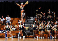 Florida International University Cheerleaders perform during the game  against Western Kentucky University, which won the game 61-51 on January 28, 2012 at Miami, Florida. .