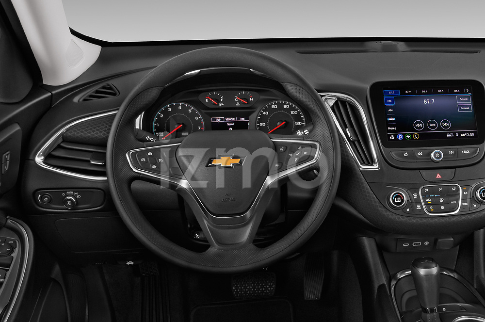 Car pictures of steering wheel view of a 2019 Chevrolet Malibu LT 4 Door Sedan