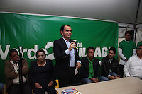 Colombia. 1st June 2014. Colombia Candidate, Oscar Ivan Zuluaga (C ) speaks to his supporters during a meeting in Bogota.. Photo by ZUUAGA Campaign/STR / VIEWpress TO EDITORS : THIS PICTURE WAS PROVIDED BY A THIRD PARTY.  THIS PICTURE IS DISTRIBUTED EXACTLY AS RECEIVED BY VIEWpress, AS A SERVICE TO CLIENTS