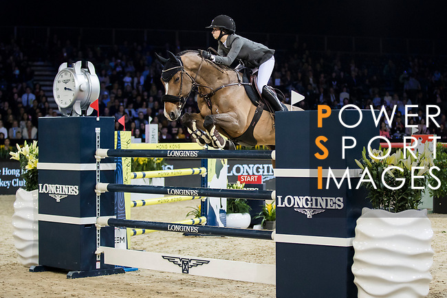 competes in the Longines Grand Prix during the Longines Masters of Hong Kong at AsiaWorld-Expo on 11 February 2018, in Hong Kong, Hong Kong. Photo by Ian Walton / Power Sport Images