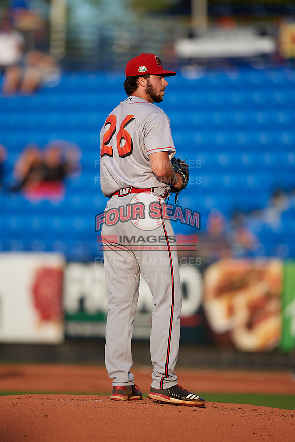Florida Fire Frogs starting pitcher Hayden Deal (26) during a Florida State League game against the St. Lucie Mets on April 12, 2019 at First Data Field in St. Lucie, Florida.  Florida defeated St. Lucie 10-7.  (Mike Janes/Four Seam Images)