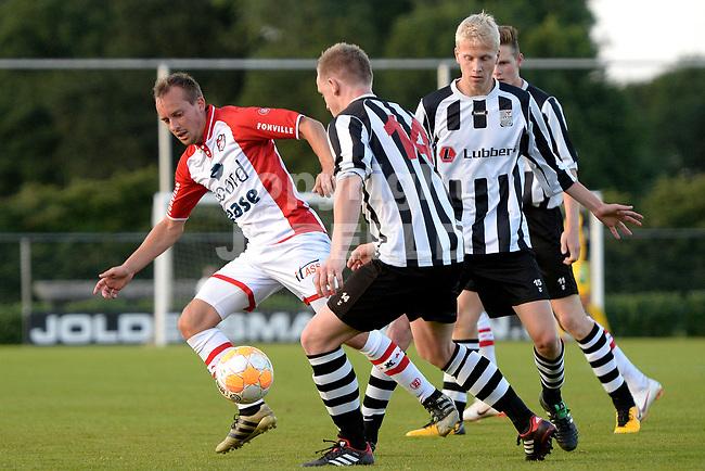 SCHOONEBEEK - Voetbal, SVV 04 - FC Emmen, voorbereiding seizoen 2018-2019, 06-07-2018,  FC Emmen speler Stef Gronsveld