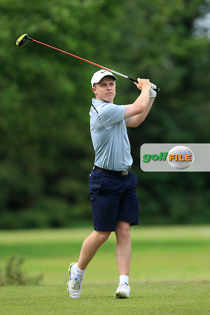 Conor Purcell (Portmarnock) on the 9th tee during Round 3 of the Irish Boys Amateur Open Championship at Tuam Golf Club on Thursday 25th June 2015.<br /> Picture:  Thos Caffrey / www.golffile.ie