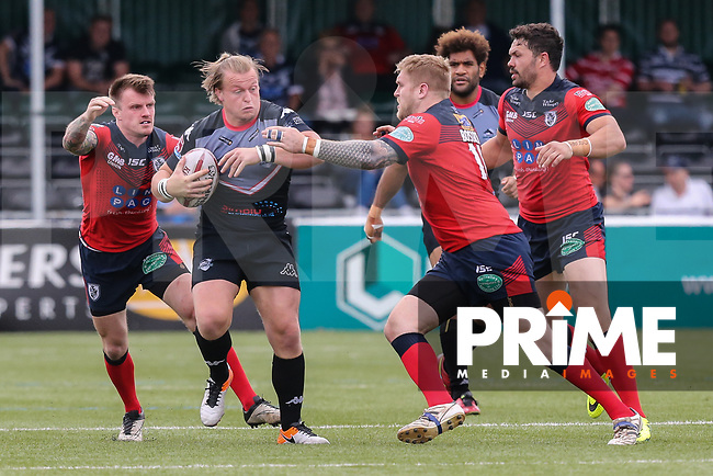Eddie Battye of London Broncos during the Kingstone Press Championship match between London Broncos and Featherstone Rovers at Castle Bar , West Ealing , England  on 25 June 2017. Photo by David Horn.